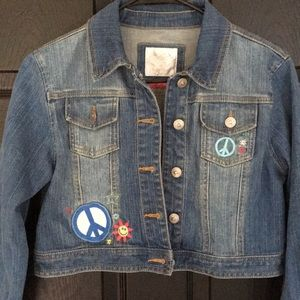 JUSTICE girls Jean jacket / cropped / Size 16